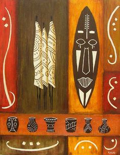 African Art gallery for African Culture artwork, abstract art, contemporary art daily, fine art, paintings for sale and modern art African, African Pottery, Modern Art, Art Therapy Projects, Tribal Art, Painting, Art, African Art, Africa Art