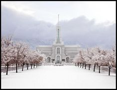Mt Timpanogos Morning Snow. Artist: Cultural Hall. LDS Temples on Havenlight.com Temple Quotes Lds, Temple Lds, Mormon Temples, Lds Temples, Latter Days, Latter Day Saints, Spiritual Thoughts, Snow Artist, Lds Church