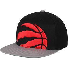 636e5adcefe Men's Toronto Raptors Mitchell & Ness Black/Gray Cropped XL Logo Adjustable  Snapback Hat, Your Price: $31.99