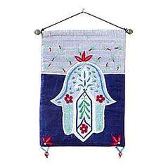 Embroidered Hamsa Wall Hanging