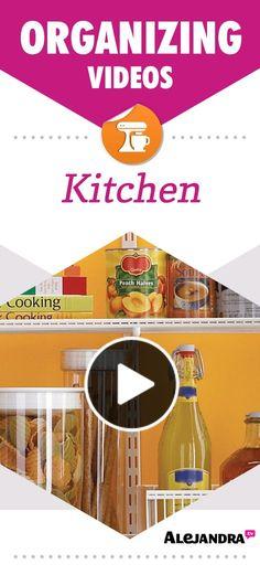 Kitchen & Pantry Organizing Tips, Ideas & Videos from http://www.alejandra.tv/home-organizing-videos/how-to-organize-the-kitchen-pantry/?utm_source=Pinterest&utm_medium=pin&utm_campaign=KitchenVideos #AlejandraTV