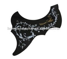 Flower and Bird Type Replacement PVC Acoustic Guitar PickGuard Scratch Plate Adhesive Tape #acoustic_guitar_pickguard, #Adhesive