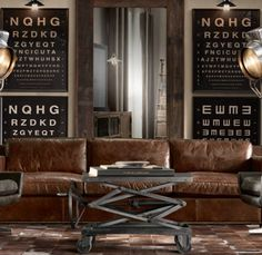 justthedesign:    justthedesign: Leather Sofa/ Signage