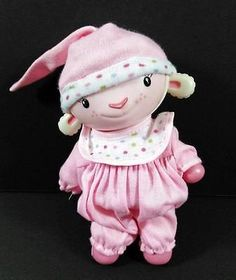 LAMBIE Lamb Doc McStuffins In Pjs Hard Plastic Posable Disney B229