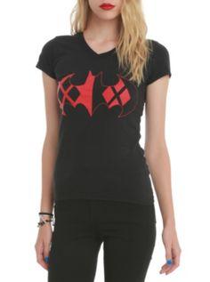 DC Comics Batman Harley Quinn Logo Girls T-Shirt