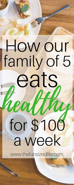 Our family of 5 is able to stick to a grocery budget at $100 per week! See how we save money on food each month!  #savemoney #family #budget #familybudget #foodbudget #grocerybudget