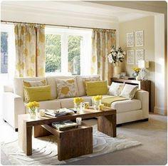 peacock decorating ideas for living room | Stylish Yellow Living Room yellow home decor – Decorating-Trends.com
