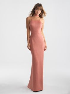 01a47254e7d Madison James 18-713suede prom dress Pink Suede Dress