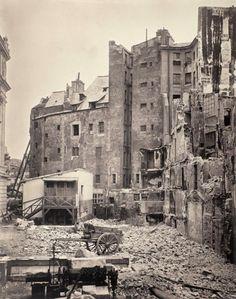 Démolition des impairs de la rue de Harlay, 1871 - Ile de la Cité - Paris 1er