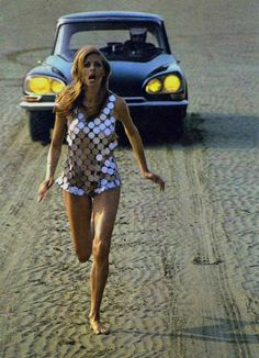 Photographed by Helmut Newton for Citroën, 1960s.