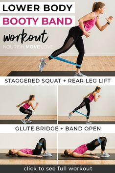 8 Best Resistance Band Exercises for Legs lower body workout legs workout resistance band workout glutes workout for women thigh workout for women Nourish Move Love Leg Workout With Bands, Best Leg Workout, Leg Day Workouts, Twerk Workout, At Home Glute Workout, Morning Exercises, Exercise Bands, Boxing Workout, Workout Gear