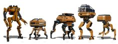 Robot Group 02, Sam Brown on ArtStation at https://www.artstation.com/artwork/robot-group-02