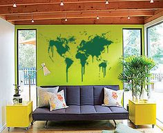 Décalque de mur de carte monde sur Etsy, $158.73 CAD