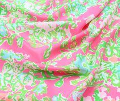 x or 1 YARD Lilly Pulitzer Flamingo Pink Southern Charm Silk Lilly Pulitzer Fabric, Pink Fabric, Southern Charm, Vinyl Lettering, Refashion, Flamingo, Charmed, Silk, Sewing