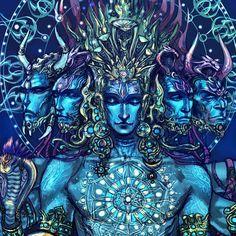 "Finally finished. ""Sadashiva"" the shiva of eternity, five heads are vamadeva, Tatpurusha, ishana, sadyojita and aghora."