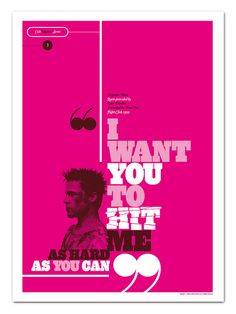 Iconic movie quote posters