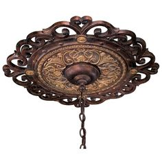 Metropolitan Accessories fixture Model Metropolitan Ceiling Medallion in Golden Bronze finish with None. Traditional from the Bronze Tones finishes group in Bronze. Ceiling Medallions category from the Zaragoza family. Ceiling Decor, Ceiling Lights, Ceiling Fans, Ceiling Ideas, Ceiling Rose, Metropolitan Lighting, World Decor, Tuscan Design, Tuscan House