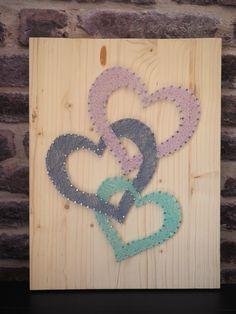 Hearts - string art