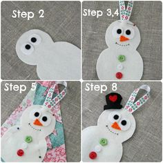 Plushka's craft: Snowman Christmas decoration DIY. Such a great site.