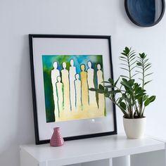 Crowd print, Wall Art Print of Original Aquarell Painting, Original contemporary art, wall decor Printable Wall Art, Wall Art Prints, Crowd, Contemporary Art, Wall Decor, The Originals, Unique Jewelry, Frame, Handmade Gifts