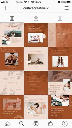 $25.00 · Bring harmony to your brand with the Yoga Social Feed Template, a divine set of 30 custom presets designed to give your social feeds a calming, earthy aesthetic. Easily create on-brand social content to drive traffic, increase engagement, and promote tranquility. WHAT'S INCLUDED:30 square (1080 x 1080px) Social Feed Canva Templates | Free stock Images already edited with Cultive Presets | Step by step installation instructions | Customer Support from our team Instagram Feed, Instagram Posts, Instagram Post Template, Installation Instructions, Templates Free, Customer Support, Business Branding, Lightroom Presets, Earthy