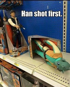 Greedo and Han! When I saw this I actually laughed out loud and it came out…