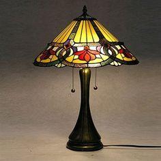 Warehouse of Tiffany TF16022TL 2 Light Style Ambrosia Table Lamp