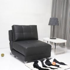 @Overstock - With a comfort-oriented design, this convertible chair bed is multifunctional and takes full advantage of any available space. Features fabrics with great look and require minimum care, high density foam, steel legs, and Euro designed mechanism.http://www.overstock.com/Home-Garden/New-York-Black-Matte-Convertible-Chair-Bed/6731638/product.html?CID=214117 $416.99