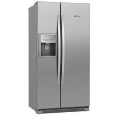 Refrigerador Side by Side Electrolux SS72X com Dispenser de Água e Ice Maker - 504 L - Titanium - Side by Side no CasasBahia.com.br