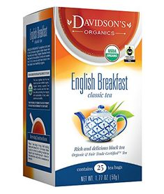 Davidsons Tea English Breakfast Tea Bags Pack of 6 * You can get more details by clicking on the image. (This is an affiliate link) Organic Herbal Tea, Coffee Drinks, Gourmet Recipes, Brewing, Cravings, Herbalism, Packing, Breakfast, Bags