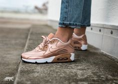 huge selection of 944c4 ef98e Nike Air Max 90 SE Leather GS (Metallic Red Bronze   Metallic Red Bronze)