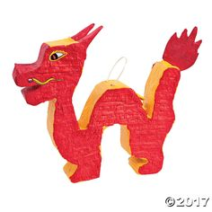 Dragon Piñata. Fill this dragon piñata with candy and small toys or use it as a party decoration for your Chinese New Year celebration! ...