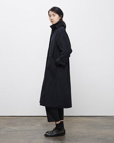La Garçonne Moderne / Drafting Trench Coat, La Garçonne Moderne / Academie Pant, Worn with: Maria La Rosa / Mid-Calf Silk Socks, Marsèll / Two-Tone Oxford #fw14