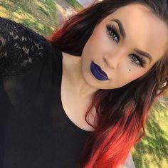 hayleydollx #makeup #style #fashion #tumblr #hair #mermaid #mermaidstyle #mermaidmakeup #mermaidhair #redhead #redhair #ginger #wakeupandmakeup #makeupartist #mua #dyeddolls #dollswithdye #dyeddollies #matteroyal #mac #maccosmetics #macmua #macmakeupartist #overtone #naturalhair #wavyhair #waves #bluelips #purplelips #blurple