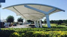 Arched Roof Parking Shade Structure