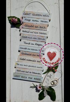 Dekoschild GEHT EUREN WEG zur Hochzeit