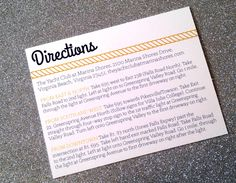 Nautical Directions Card - Customize it. $15.00, via Etsy.