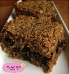 Homemade Blueberry Flapjack by The Very Little Coffee Co.