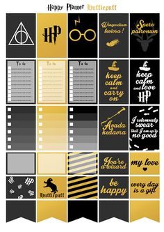 Printable stickers Harry Potter maison par Lateliercreatif06