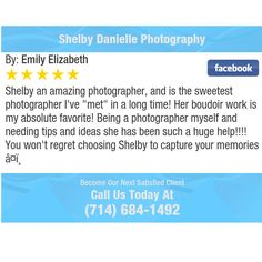 """Shelby an amazing photographer, and is the sweetest photographer I've """"met"""" in a long..."""