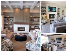 We love these great fireplace design ideas using stacked stone and wood elements from designer Cathy Mortenson. http://www.homegoods.com/blog/2015/02/02/3-fireplace-facelifts-to-do-before-you-decorate/
