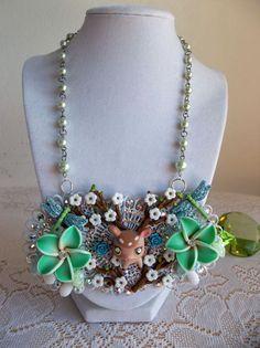 Bambi garden bib style necklace