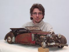 truck kit car | Here is a sculpture / artist who makes vehicle projects out of metal .