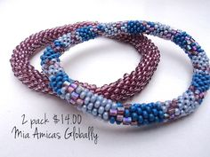 2 bracelets for just $10.00  Check out our SPECIAL DEALS  at miaamicasglobally.com 15% of all web purchases are donated to Maggie Doyne's blinknow.org so we can get more reusable menstrual kits to girls in Nepal in rural Nepal