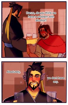 Everytime the biggest problem with alcohol XD Overwatch Hanzo, Overwatch Memes, Overwatch Fan Art, Fanart Overwatch, Overwatch Funny Comic, Hanzo Shimada, Cool Sketches, Geek Culture, Cosplay