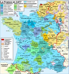 France Map, 1477