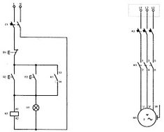 Three Phase Dol Starter Wiring Diagram Component Single