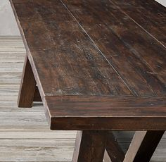 Salvaged Wood Beam Rectangular Extension Table