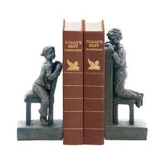 Sterling Industries 93-3276 Pair Kid Bookends Peek-a-boo Home Decor Accents Bookends