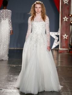 Sequined Ball Gown With Long Sleeves | Jenny Packham Spring 2018